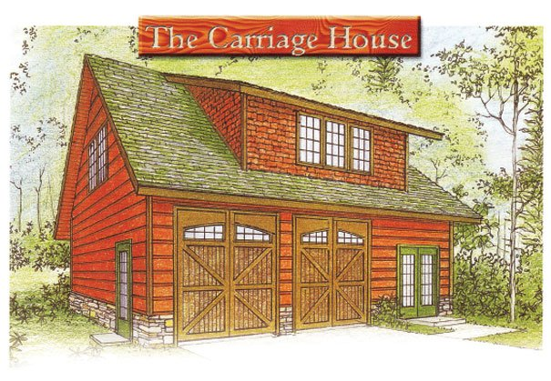 The carriage house plan log homes of america for Carriage house floor plans
