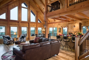 Log homes gallery view log home designs for Great american log homes